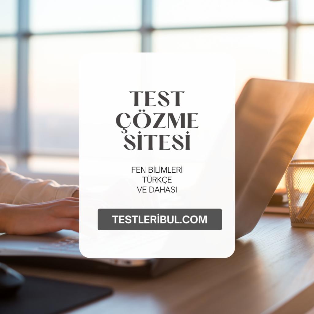 8. Sınıf Türkçe Test Çözme Sitesi